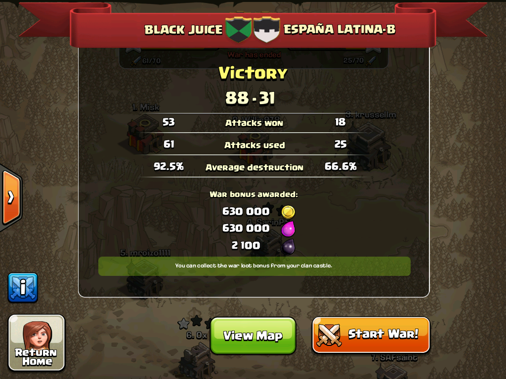 Black Juice vs ESPANA LATINA-B
